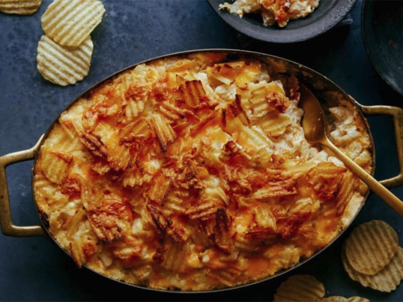Cheesy Potatoes with Caramelized Onions